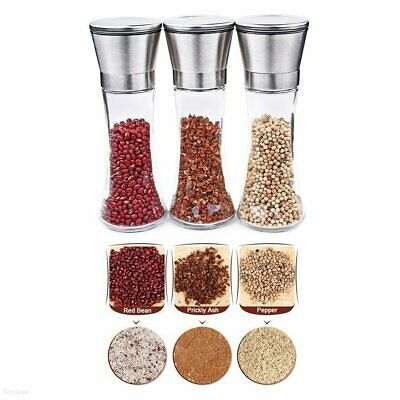 Stainless Steel Salt and Pepper Grinder of Premium Brushed Mill 5 Grade PQ