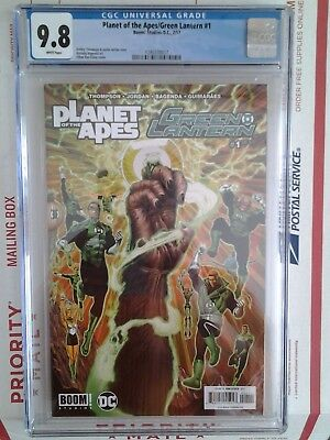 Boom / Dc Crossover Planet Of The Apes / Green Lantern #1 Regular Cover Cgc 9.8