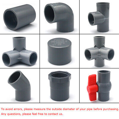 Various Grey PVC Water Supply Pipe Fittings Socket, Elbow, Tee, Ball Valve...