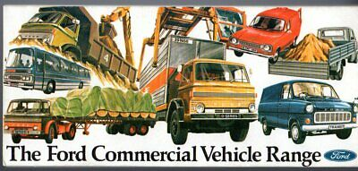 Ford Escort Van Transit D-Series Bus Coach 1973 UK Market Foldout Brochure
