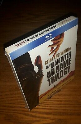 THE MAN WITH NO NAME TRILOGY Blu-ray US import region a free(rare OOP slipcover)