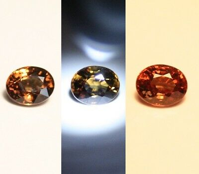0.61ct Colour Change Garnet - Custom Cut Gem with Rare Superb Colour Change