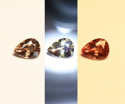 0.42ct Colour Change Garnet - Custom Cut Gem with Rare Superb Colour Change