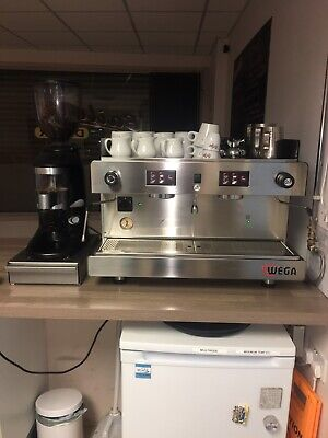 Wega Commercial Coffee Machine 2 Group Perfect Condition With Coffee Grinder