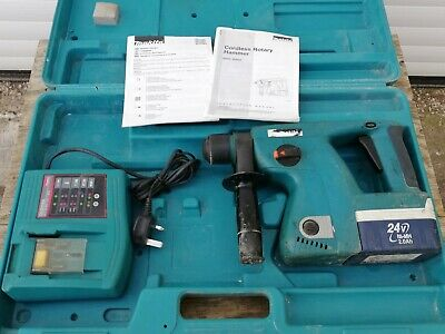 Makita BHR200, 24V Cordless Rotary Hammer Drill, Battery, Charger & Case