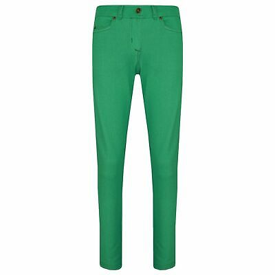 Kids Girls Skinny Jeans Green Stretchy Denim Jeggings Fit Pants Trousers 5-13 Y