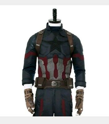 Avengers Infinity War End Game Captain America Steve Rogers Costume Cosplay