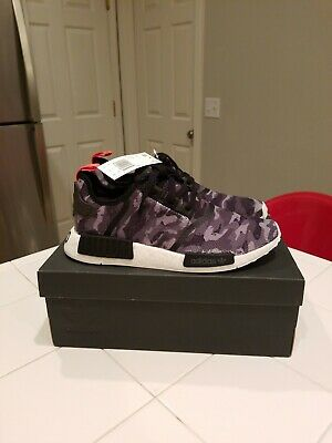 423e48f6defd4 ADIDAS NMD R1 Boost Originals Black Grey Camo Men Shoes SIZE 13 ...
