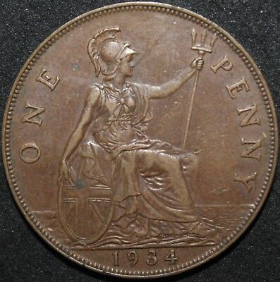 1934 | George V One Penny | Coins | KM Coins