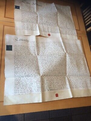 2 x Old Indentures/Conveyance - Dated 1810 - On Vellum ( As Shown )