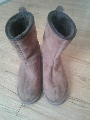 727a3dd2324 CABELA'S MENS SIZE 8 Suede Shearling Linned House Shoes/Slippers TAN ...