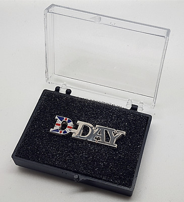 D Day 75th Anniversary British Army Cut To Shape Enamel Badge Boxed