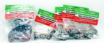 Kytes Lights Oo Scale Mixed Lot Of Street Lamps 50 Single Arm Modern (1W)