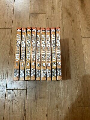 Attack On Titan (aot) Manga Volumes 1-4,6,8,11-13