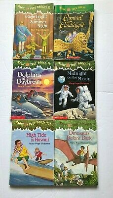 Lot of 6 Scholastic Magic Tree House Paperback Books by Mary Pope Osborne
