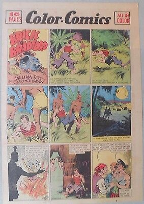 Brick Bradford Sunday by Ritt and Gray from 6/17/1939 Tabloid Size Page! Rare!