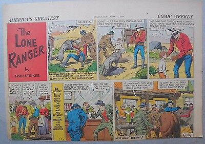 Lone Ranger Sunday Page by Fran Striker and Charles Flanders from 9/24/1939