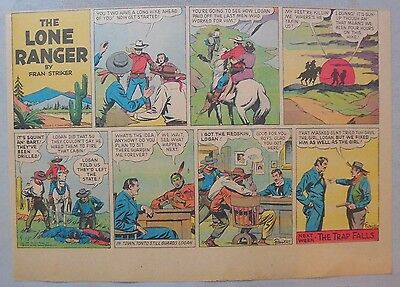 Lone Ranger Sunday Page by Fran Striker and Charles Flanders from 9//8//1940