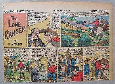 Lone Ranger Sunday Page by Fran Striker and Charles Flanders from 1/28/1940