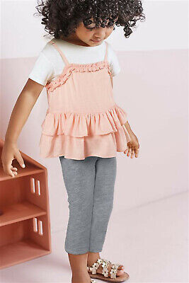 Next Girls 2 Piece Pink Cami Top /& T-shirt Set Age 5-6 Years BNWT Tag £14