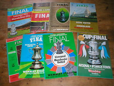 15 FA Cup Final programmes 1969 - 1984 several autographed signed (Liverpool FC)
