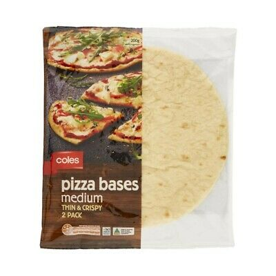 Coles Thin & Crispy Medium Pizza Bases 2 pack 200g