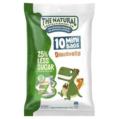 The Natural Confectionary Co Reduced Sugar Sharepack Dinosaurs 300 gram