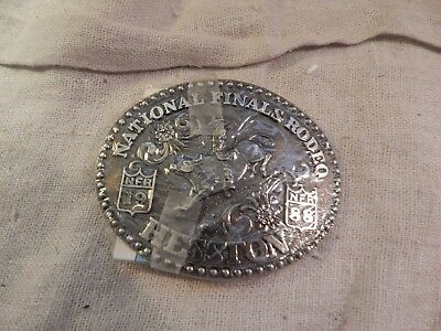 National Finals Rodeo Hesston Belt Buckle 1988 Sealed