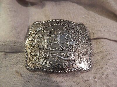 National Finals Rodeo Hesston Belt Buckle 1985 Sealed