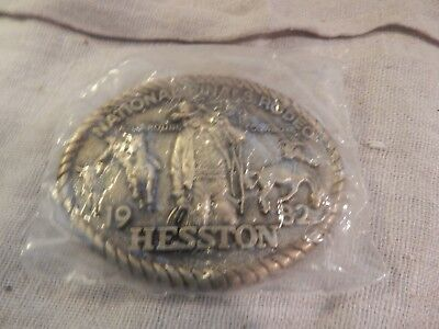 National Finals Rodeo Hesston Belt Buckle 1982 Sealed