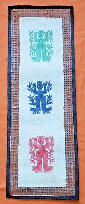 Genuine AMATE BARK PAINTING native ethnic mexican hanging folk art spirits
