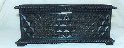 Early Chip Carved Oak Box - With Farming Interest - 19th Century
