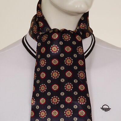 Mens Silk Mix Paisley Scarf in Blue with a Retro Inspired Mod Print (P2)