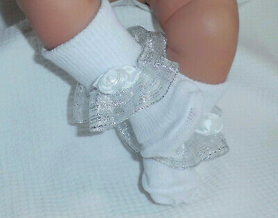"""Dolly Togs Lilac Frilly Socks Premature Baby 3-5lb 15-18/"""" Reborn 2½-3/"""" Doll 2063"""