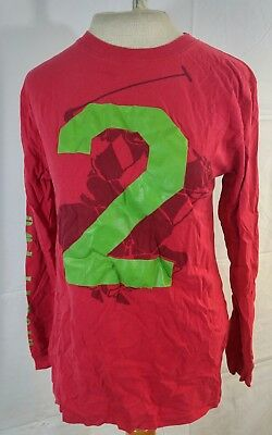 Beverly Hills Red Long Sleeve Polo Club Large 14/16 Kids Youth Shirt