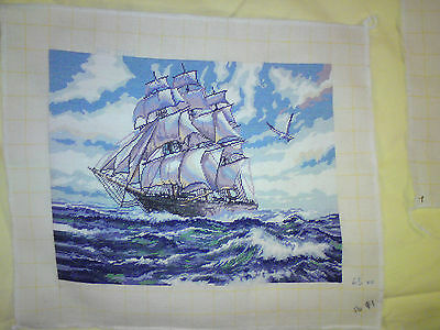 Hand Made High Seas Picture Goblin Tapestry,wall Hanging, Complete, Embroidery