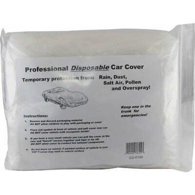 Car Cover, Disposable, Clear 50-253842-1