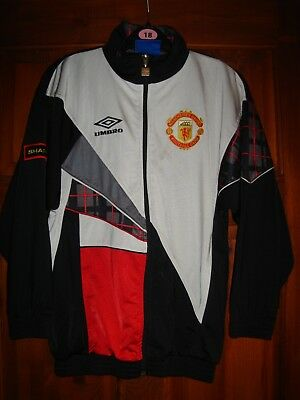 MANCHESTER UNITED TRACKSUIT TOP. ADIDAS 1980s. SIZE 2830