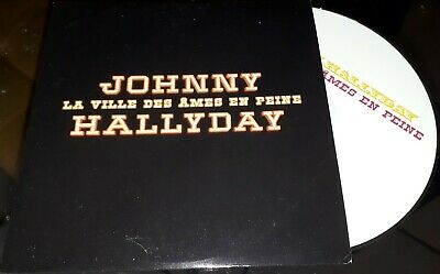 Johnny Hallyday Cd Promo Edition Originale La Ville Des Ames En Peine