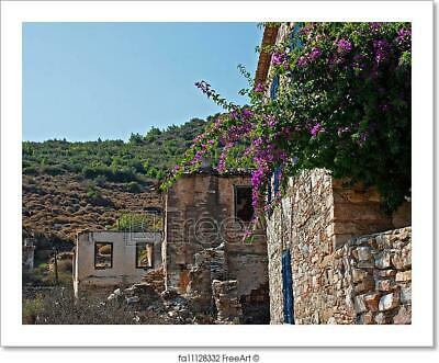 Old Abandoned Greek/Turkish Village Of Art Print Home Decor Wall Art Poster - C