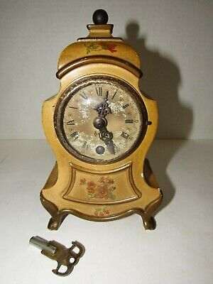 Antique Large Swiss Made Musical Alarm Desk Clock 8-day, Key wind