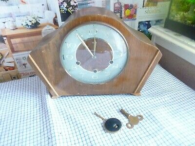 old wooden clock by smiths