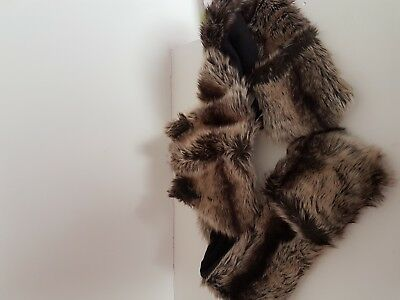 New Without Tag John Rocha Fur Girls Hat Scarf Age 11-13