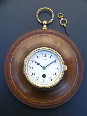 Cartel miniature acajou 8 days regulator wall clock montre pendule oeil de boeuf