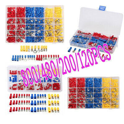 800/480/120x Assorted Crimp Terminal Insulated Electrical Wire Connector  BEST