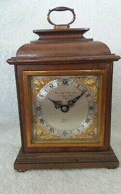 "Elliott Of London Mantle Clock. Retailed By "" Garrard & Co Ltd London"""