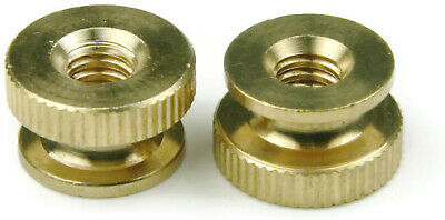 Solid Brass Knurled Thumb Nuts - All Sizes & Quantities