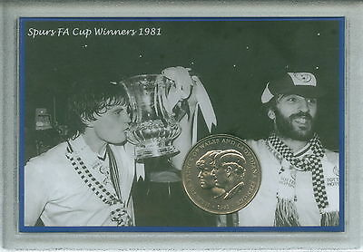 Tottenham Hotspur Spurs Vintage F.A Cup Final Winners Coin Retro Gift Set 1981