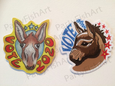Lot of 2 Donkey Decal Sticker Vote 2020 Democrat Election Political President
