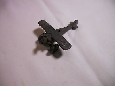 Vintage Vinson 1920's Cast Iron Model Airplane - 4 1/2 inches X 4 inches